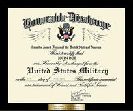 United States Air Force Certificate Frame - Honorable Discharge Certificate Frame in Metro