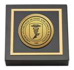 American College of Foot and Ankle Surgeons Paperweight - Gold Engraved Paperweight