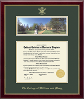 William & Mary Diploma Frame - Campus Scene Diploma Frame in Galleria