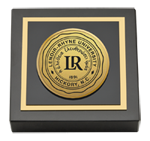 Lenoir-Rhyne University Paperweight - Gold Engraved Medallion Paperweight