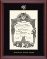 United States Military Academy Diploma Frame - Masterpiece Medallion Diploma Frame in Cambridge