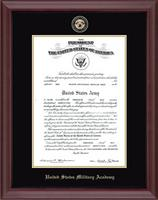 United States Military Academy Certificate Frame - Masterpiece Medallion Certificate Frame in Camby