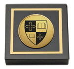 St. Lawrence University Paperweight - Gold Engraved Medallion Paperweight