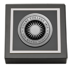 Colby College Paperweight - Silver Engraved Medallion Paperweight