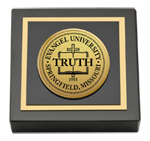 Evangel University Paperweight - Gold Engraved Paperweight