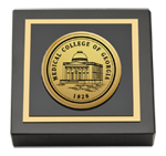 Medical College of Georgia Paperweight - Gold Engraved Medallion Paperweight