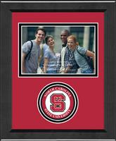 North Carolina State University Photo Frame - Lasting Memories Circle Logo Photo Frame in Arena