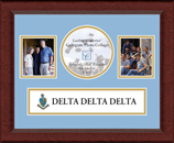 Delta Delta Delta Photo Frame - Lasting Memories Banner Collage Photo Frame in Sierra