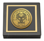 The Boys' Latin School of Maryland Paperweight - Gold Engraved Medallion Paperweight