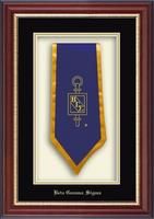 Beta Gamma Sigma Stole Frame - Commemorative Stole Shadow Box Frame in Newport