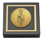 Beta Gamma Sigma Paperweight - Gold Engraved Medallion Paperweight