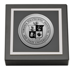 Virginia Polytechnic Institute and State University Paperweight - Silver Engraved Medallion Paperweight