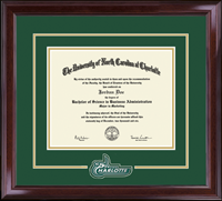 The University of North Carolina at Charlotte Diploma Frame - Spirit Medallion Diploma Frame in Encore