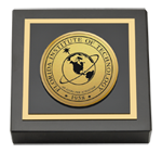 Florida Institute of Technology Paperweight - Gold Engraved Medallion Paperweight