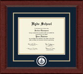 Hyde School Diploma Frame - Circle Logo Edition Diploma Frame in Sierra