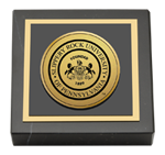 Slippery Rock University Paperweight - Gold Engraved Medallion Paperweight