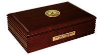 Chadron State College Desk Box - Gold Engraved Medallion Desk Box