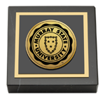 Murray State University Paperweight - Gold Engraved Medallion Paperweight