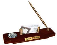 University of Southern Maine Desk Pen Set - Masterpiece Medallion Desk Pen Set