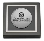 Grand Valley State University Paperweight - Silver Engraved Medallion Paperweight