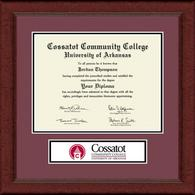 Cossatot Community College University of Arkansas Diploma Frame - Lasting Memories Banner Edition Diploma Frame in Sierra