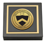 Princeton Theological Seminary Paperweight - Gold Engraved Medallion Paperweight