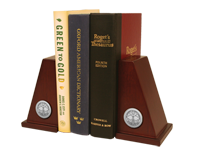 The University of North Carolina at Charlotte Bookends - Silver Engraved Medallion Desk Bookends