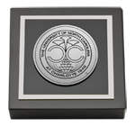 The University of North Carolina at Charlotte Paperweight - Silver Engraved Medallion Paperweight