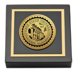 Athens State University Paperweight - Gold Engraved Medallion Paperweight
