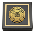 State University of New York - College at Oneonta Paperweight - Gold Engraved Medallion Paperweight