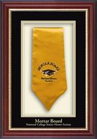 Mortar Board National College Senior Honor Society Shadowbox Frame - Commemorative Stole Shadowbox Frame in Newport