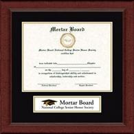 Mortar Board National College Senior Honor Society Certificate Frame - Lasting Memories Banner Certificate Frame in Sierra