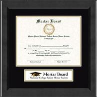 Mortar Board National College Senior Honor Society Certificate Frame - Lasting Memories Banner Certificate Frame in Arena