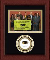 Mortar Board National College Senior Honor Society Photo Frame - Lasting Memories Circle Logo Photo Frame in Sierra