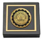 Williams Baptist College Paperweight - Gold Engraved Medallion Paperweight