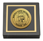 Norfolk State University Paperweight - Gold Engraved Medallion Paperweight