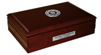 The University of Utah Desk Box - Silver Engraved Desk Box