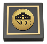 Norwalk Community College Paperweight - Gold Engraved Paperweight