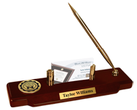 Northwood University in Michigan Desk Pen Set - Gold Engraved Medallion Desk Pen Set
