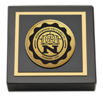 Northwood University in Michigan Paperweight - Gold Engraved Medallion Paperweight