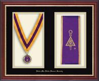 Delta Mu Delta Stole Frame - Commemorative Medal and Stole Frame in Newport