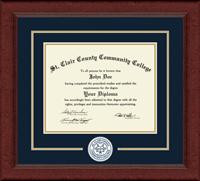 St. Clair County Community College Diploma Frame - Lasting Memories Circle Logo Diploma Frame in Sierra