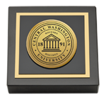 Central Washington University Paperweight - Gold Engraved Medallion Paperweight