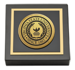 Virginia State University Paperweight - Gold Engraved Medallion Paperweight