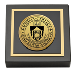 Aquinas College in Michigan Paperweight - Gold Engraved Medallion Paperweight