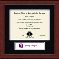 American College of Foot and Ankle Surgeons Banner Frame - Certificate Edition Banner Frame in Sierra