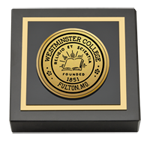 Westminster College in Missouri Paperweight - Gold Engraved Paperweight