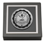 Middle Tennessee State University Paperweight - Silver Engraved Medallion Paperweight