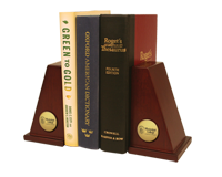 Mississippi College Bookends - Gold Engraved Bookends