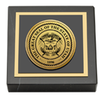 State of Utah Paperweight - Gold Engraved Medallion Paperweight